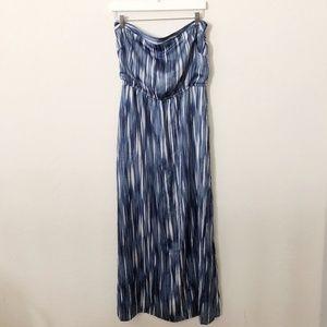 White House Black Market Blue Maxi Dress